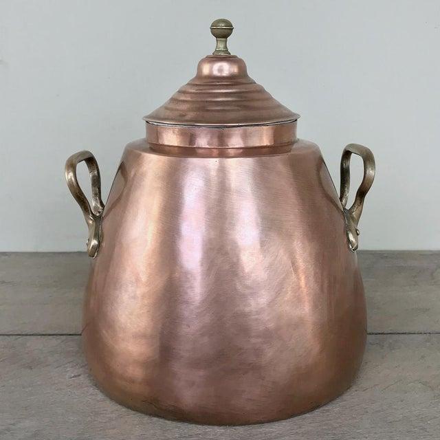 Gold 19th Century Copper & Bronze Beverage Server For Sale - Image 8 of 12