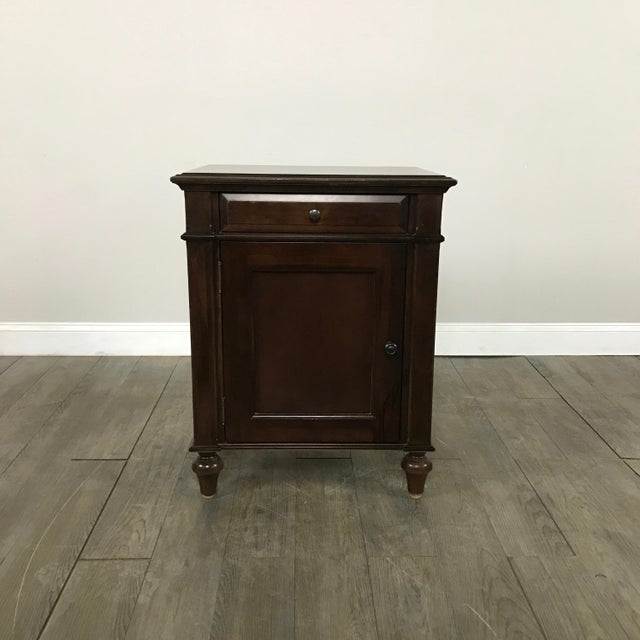 Cane-Lined Traditional Nightstand - Image 2 of 11