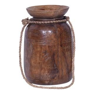 Marie Wooden Decorative Pot For Sale