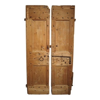 Pair of 17th Century Pine and Iron Doors From Lombardy Italy For Sale