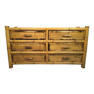 1960s Chinoiserie Bamboo Dresser For Sale
