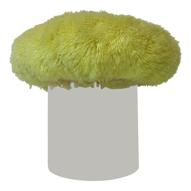 Lucite Vanity Stool Used on the Phil Donahue Show For Sale