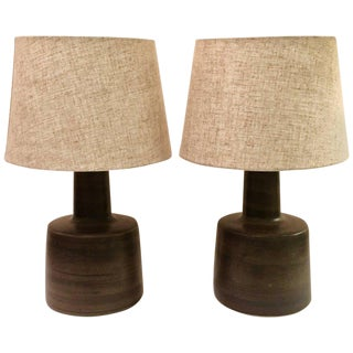 Pair of Glazed Lamps by Jane and Gordon Martz for Marshall Studios
