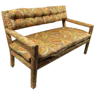 Groovy All Upholstered Bench by Classic Gallery Inc. After Baughman For Sale