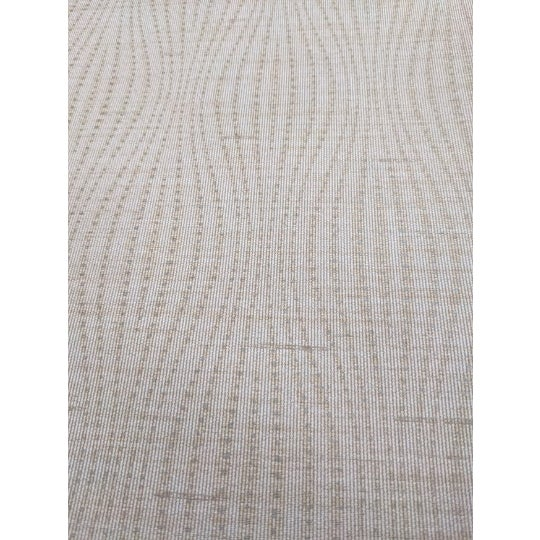 Silver and Cream stripe w/ crinkled fabric wall coverings are always in style! woven back. Class A Type II Vinyl....