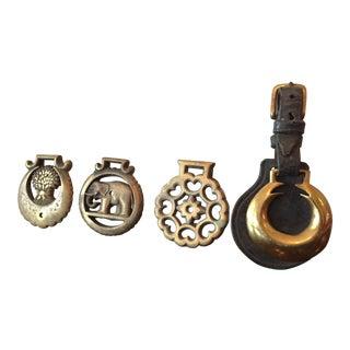 Antique Brass Equestrian Medals - Set of 4