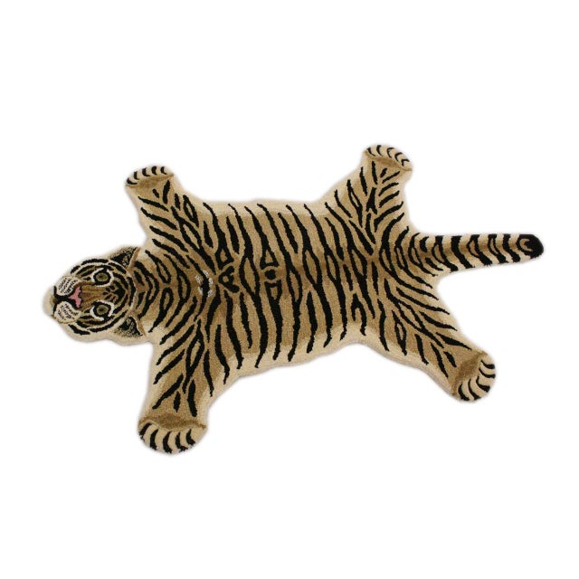 2000 - 2009 Contemporary Decorate Wild Animal Design Handcuffed Area Rug- 3′ × 5′ For Sale - Image 5 of 9