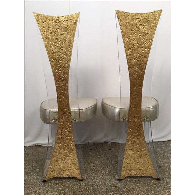 Vintage Glam & Unique Lucite Dining Chairs - Set of 6 - Image 8 of 9