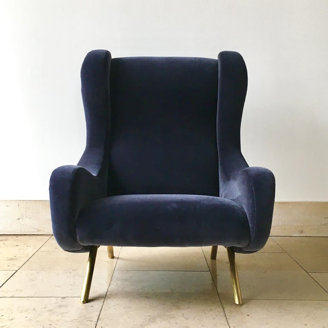 Single Early Production Marco Zanuso designed Senior Armchair, Arflex Edition circa 1950 Entirely rebuilt and...