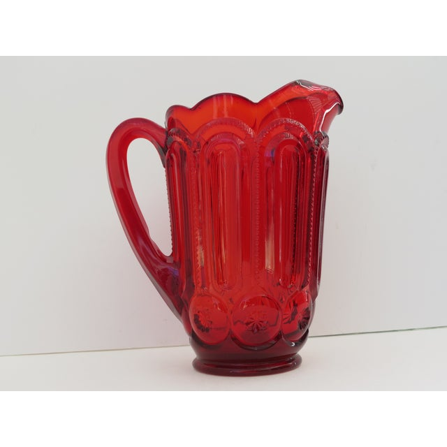 Moon & Stars Ruby Red Pitcher - Image 2 of 5