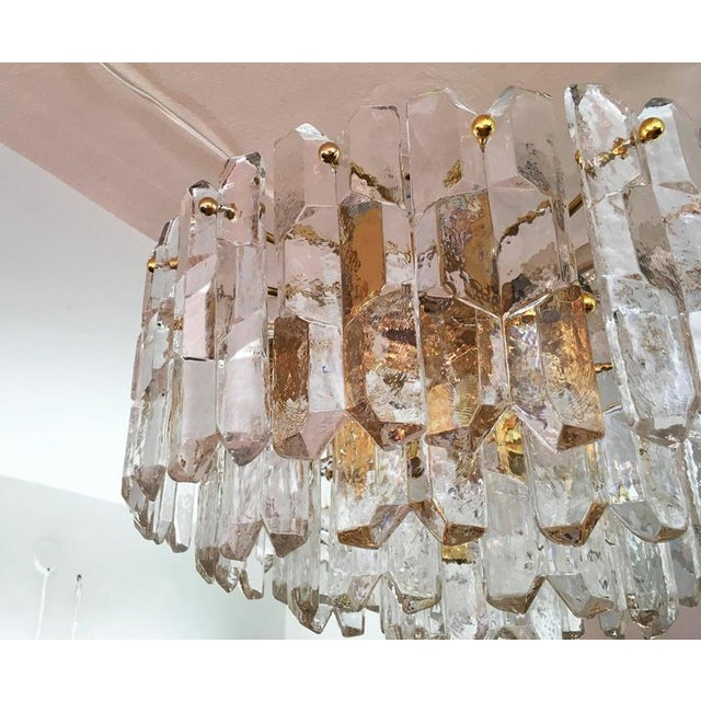 1970s Large Palazzo Frosted Glass Chandelier by JT Kalmar, 1970s For Sale - Image 5 of 11