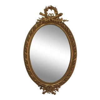 19th Century Oval Gilded Mirror