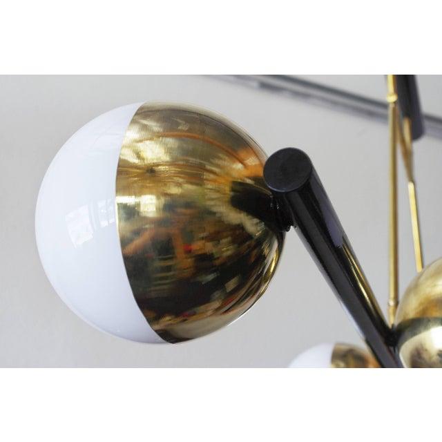 Brass Viale Chandelier by Fabio Ltd For Sale - Image 7 of 9