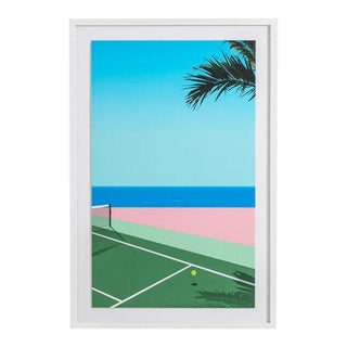 Seaside Tennis Print by Teague Studios, Framed For Sale