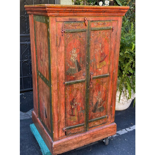 Spanish Equator Furniture Company 18th C Spanish Colonial Cabinet Mini Armoire For Sale - Image 3 of 8