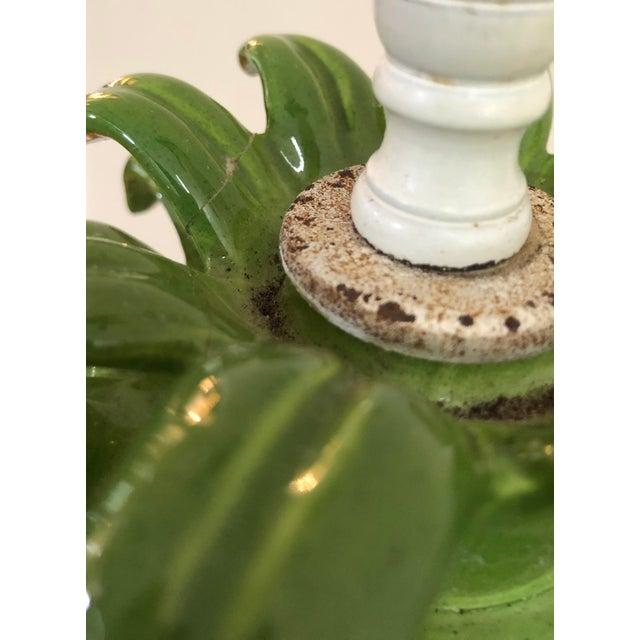 Ceramic Mid Century Italian Majolica Pineapple Table Lamp For Sale - Image 7 of 11