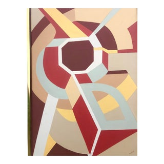 Late 20th Century Abstract Geometric Signed For Sale