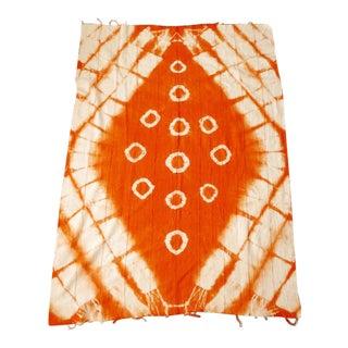 Orange Cotton Mudcloth For Sale