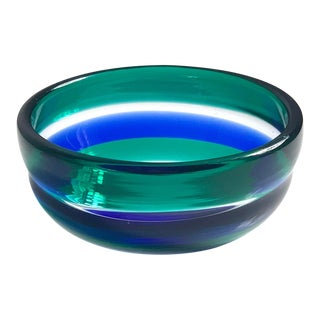 1950s Vintage Fulvio Bianconi Venini Glass Bowl For Sale