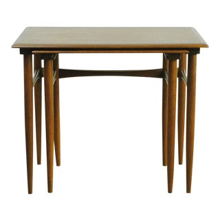 Set of Two Teak Nesting Tables by Poul Hundevad