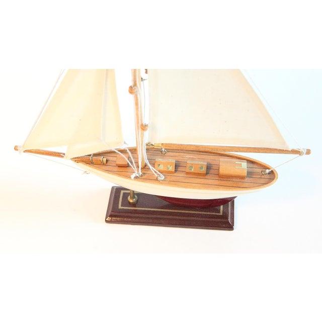 Vintage Model Sail Boat For Sale - Image 4 of 6