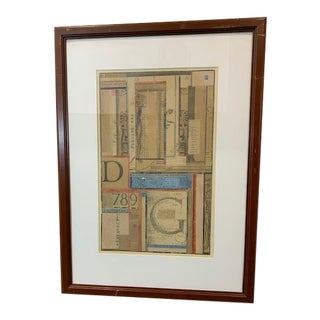 Enid Monroe Original Leonardo Da Vinci Geometric Mixed Media Art Collage For Sale