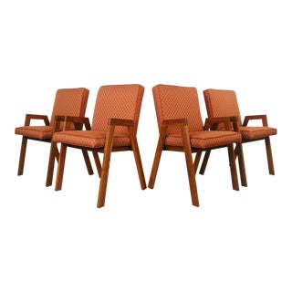 Vintage Mid Century Compass Dining Chairs- Set of 4 For Sale