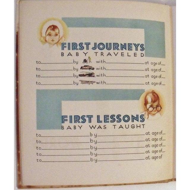Art Deco Baby Book - The Years of Babyhood Unused - Image 5 of 5
