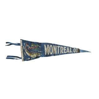 Vintage Montreal, Que. Canada Felt Flag Pennant For Sale