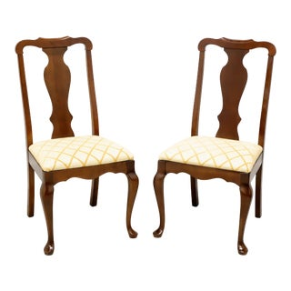 Pennsylvania House Solid Cherry Queen Anne Dining Side Chairs - Pair C For Sale