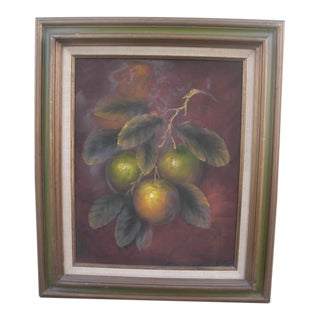 Mid 20th Century Limes Still Life Oil Painting, Framed For Sale