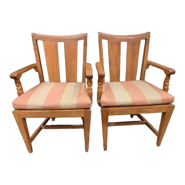 1990s Vintage Sutherland Matisse Teak Dining Chairs- A Pair For Sale