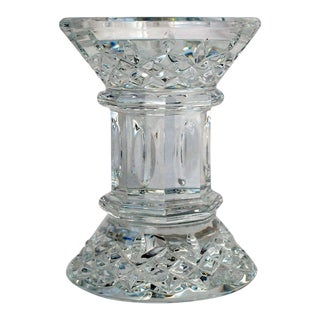 "English Waterford Crystal Candle Holder, Lismore 5"" Pillar For Sale"