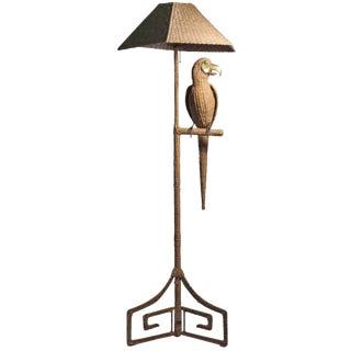 Mario Lopez Torres Wicker Parrot Floor Lamp For Sale