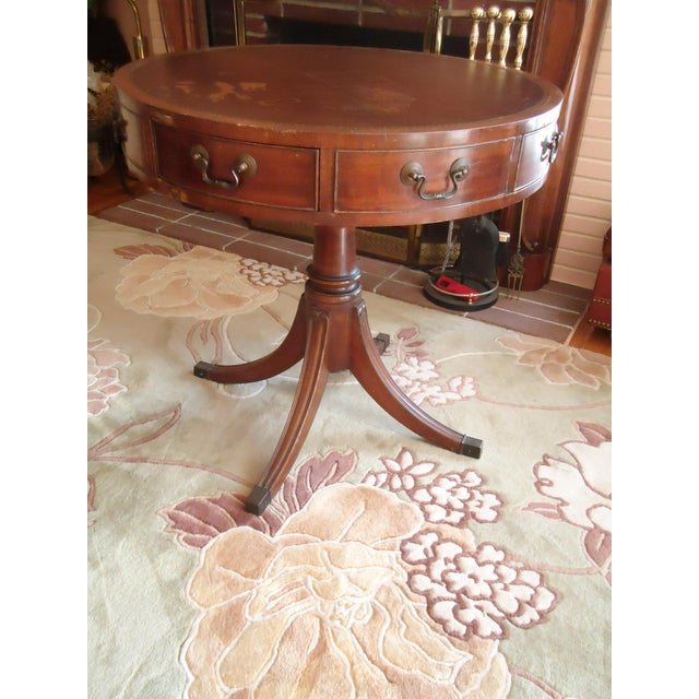 Brown Vintage Mid-Century Federal Style Game Table For Sale - Image 8 of 8