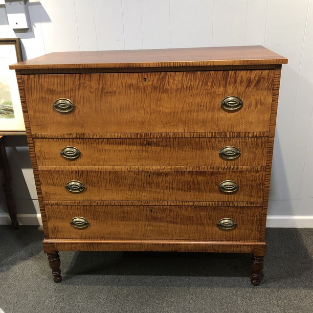 Handmade Cherry Tiger Chest For Sale - Image 9 of 12