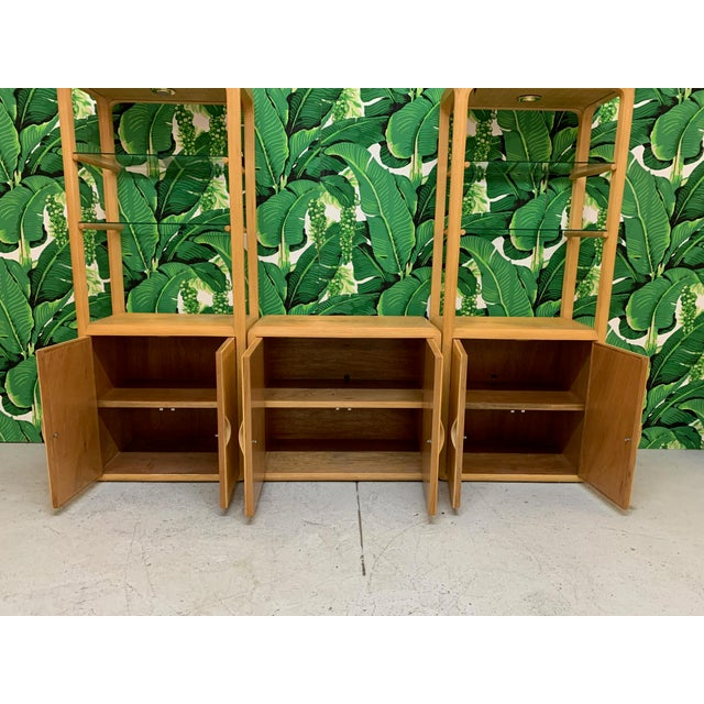 1970s Split Reed Rattan Wall Unit in the Manner of Gabriella Crespi For Sale - Image 5 of 13