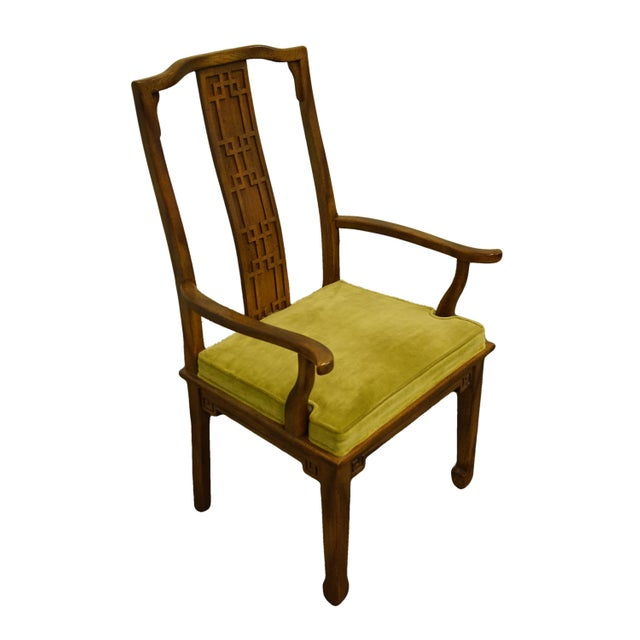 """CENTURY FURNITURE Asian Inspired Chinoiserie Dining Arm Chair 40.5"""" High 24.75"""" Wide 22.5"""" Deep Seat: 18.5"""" High Arms:..."""