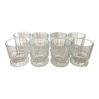 Eight Old Fashion Glasses by Dansk France For Sale