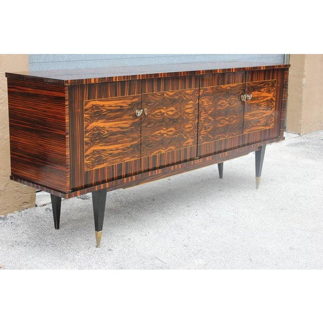 "French Art Deco Exotic Macassar Ebony ""Mushta"" Sideboard / Buffet, circa 1940s - Image 3 of 10"