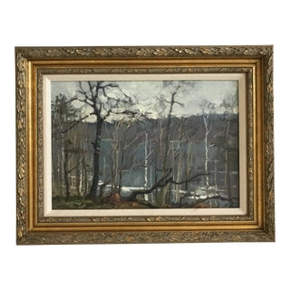 Mark Kremer Russian, B. 1928 Transparent Spring Forest Painting For Sale