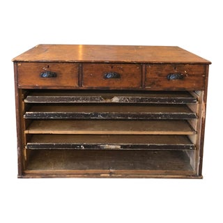Antique Drawers and Map Cabinet For Sale