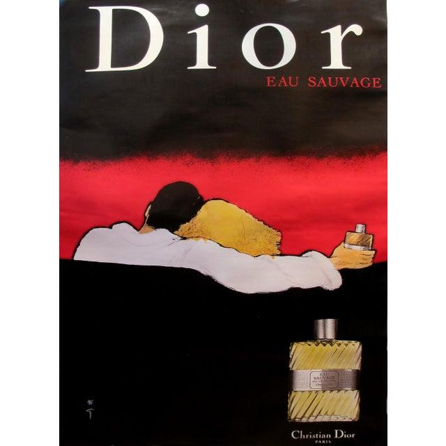 1979 Vintage Christian Dior Eau Sauvage Perfume Ad by Rene Gruau - Image 1 of 3