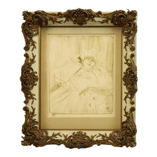 "Henri De Toulouse-Lautrec ""Yvette Guilbert"" Print For Sale"