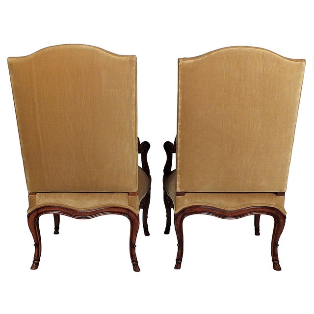 French Antique Louis XV Bergeres - Pair - Image 7 of 7