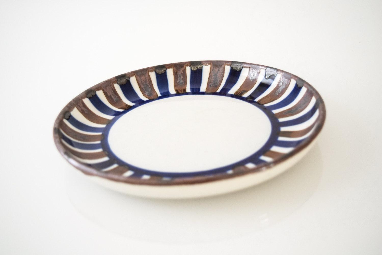 Mid Century Danish Modern Dansk Ceramic Bowl with Brown u0026 Blue Stripes - Image 3 of  sc 1 st  Chairish & Mid Century Danish Modern Dansk Ceramic Bowl with Brown u0026 Blue ...