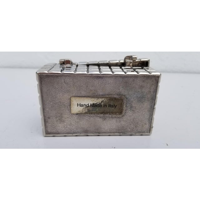 1970s Vintage Italian Silver Plate Box For Sale In Miami - Image 6 of 10
