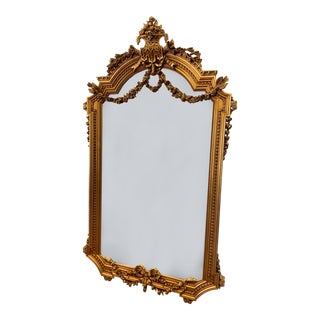 Victorian Style Hand Carved Mirror For Sale