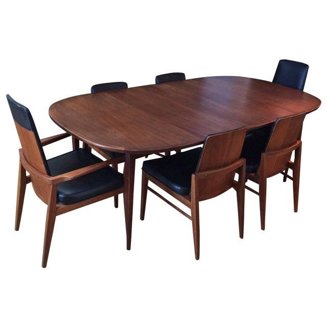 Mid-Century Modern Walnut Dining Set - Image 1 of 10