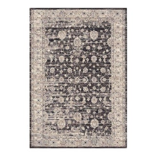 Distressed Vintage Brown Rug - 5'3'' x 7'7''